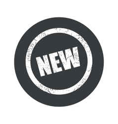 Monochrome round NEW sign icon vector image