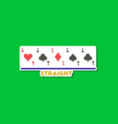 paper sticker on stylish background poker cards vector image vector image