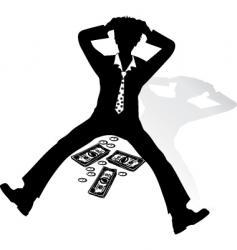 shocked businessman vector image vector image