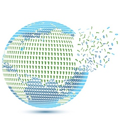technical earth vector image