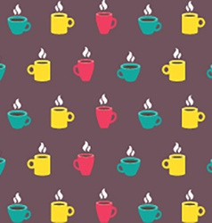 Colorful Coffee Mug Background vector image vector image