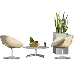 furniture chairs and table vector image vector image