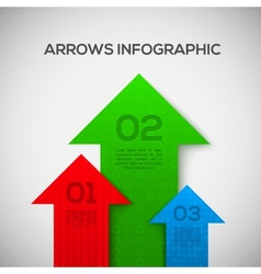 Infographic with 3D arrows vector image