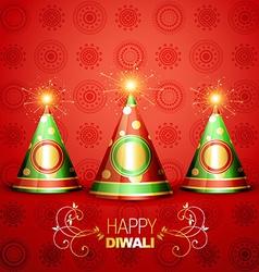 shiny diwali crackers vector image