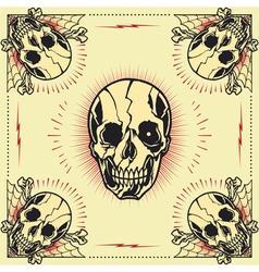 Skull bone cross Frame vector image