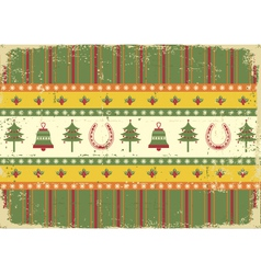vintage christmas decoration on old paper vector image vector image