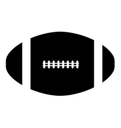 american football ball the black color icon vector image vector image