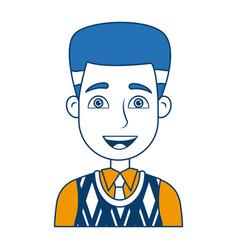 cartoon portrait man business work professional vector image vector image