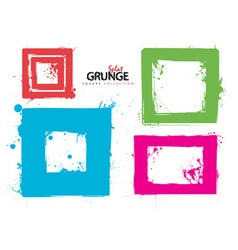 grunge square collection ink vector image