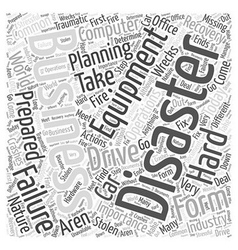 Importance Of Recovery Planning LONG Word Cloud vector image vector image