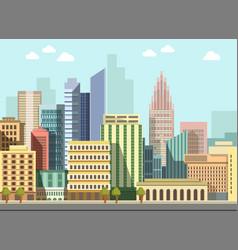 modern urban city landscape flat day vector image vector image