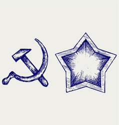 Soviet star icon vector image vector image