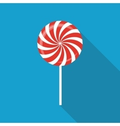 Sweet Candy Flat Icon with Long Shadow vector image