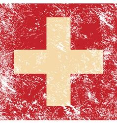 Switzerland retro flag vector