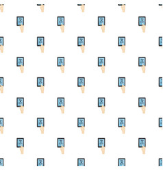 translator on phone pattern vector image vector image