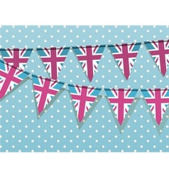 Union Jack Bunting vector image vector image