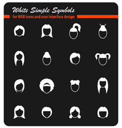woman hair silhouettes vector image