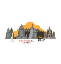 yogyakarta indonesia architecture landmarks vector image
