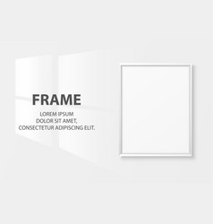 3d realistic a4 blank white wooden simple vector image