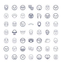 49 facial icons vector