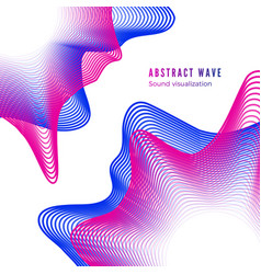 Abstract color music album cover digital sound vector