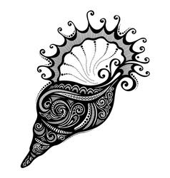 Abstract Sea Shell vector image