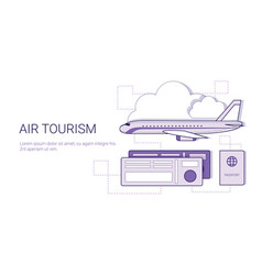 air tourism and vacation concept fly on plane vector image