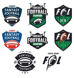 American football fantasy league design elemens vector image