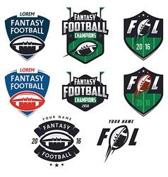 american football fantasy league design elements vector image