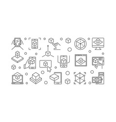 ar technology line vector image