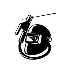 Arc welding equipment electrode holder and welder vector