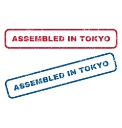 Assembled In Tokyo Rubber Stamps vector