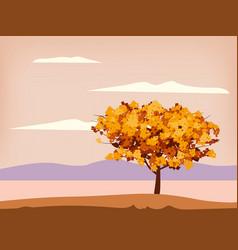 autumn landscape scenery tree orange yellow vector image