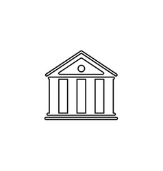 bank of icon vector image