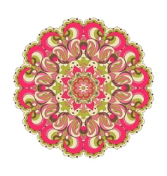 Beautiful pink arabesque lace pattern background vector image