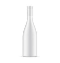Blank ceramic wine bottle mockup isolated vector