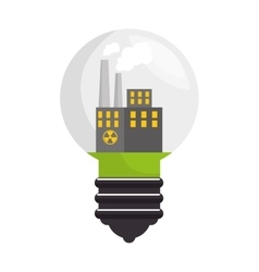 Bulb ecology idea isolated icon vector