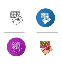 candy box icon vector image