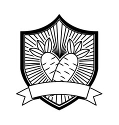carrot fresh healthy food emblem vector image