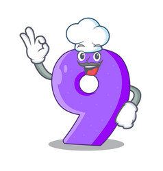Chef number nine athletics the shaped character vector