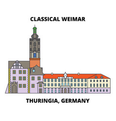 Classical weimar thuringia germany line icon vector