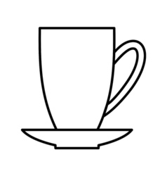 Coffee outline digital icon vector