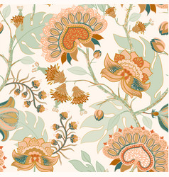 colorful paisley pattern for textile cover vector image