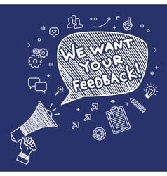 Concept of feedback vector image