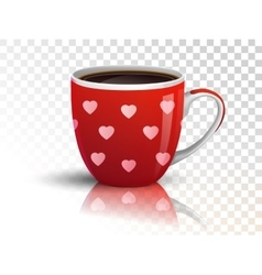 Cup of coffee on transparent vector