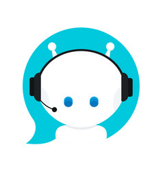 cute smiling funny robot chat bot vector image