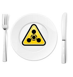 Dangerous food vector image
