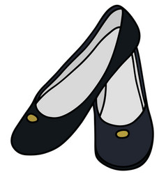 Dark blue ballerinas vector