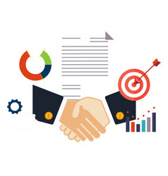 deal shaking hands vector image
