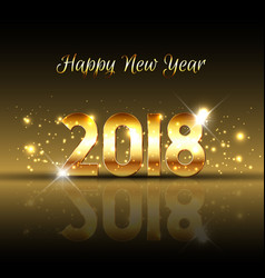 Decorative happy new year background with gold vector